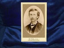 WILLIAM CLARKE QUANTRILL Confederate Raider Cabinet Card Photo Autograph