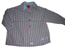 Esprit tolles Hemd Gr. 92 / 98 grau-blau-rot gestreift !!