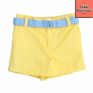RALPH LAUREN Shorts Size 6M Yellow Partly Elasticated Waist Belted
