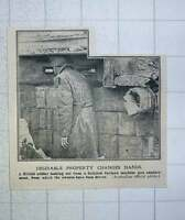 1917 Desirable Property Changes Hands German Machine-gun Emplacement