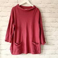 SEASALT Bareroot Jumper Sweatshirt Size 16  | Casual Boat neck Pockets Cotton