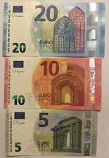 More details for 3 uncirculated euro banknotes. 5 euros - 2013, 10 euro - 2014, 20 euro 2015. eur