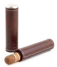 More details for xikar envoy leather cigar travel case - single - cognac -  gift boxed - 241cn