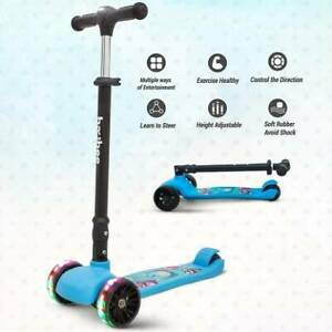 Sports Baybee Runner Skate Scooter with Brake-LED for Kids (Blue)