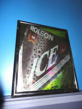 VINTAGE MOLSON ICE BEER FRAMED POSTER BAR MIRROR