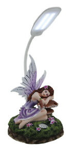 Scratch & Dent Amethyst the Fairy of Forest Light On Mushroom LED Desk Lamp