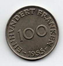 Germany - Saarland- 100 Frank 1955