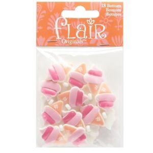 "Ice Cream Blumenthal Lansing Flair Originals Buttons 18 Buttons Per Package 1"""