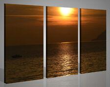 Quadri moderni su tela canvas PESCATORI AL TRAMONTO STAMPE FINE ART 130 x90