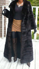 MInt Elegant Young Extra long Full length genuine Russian Sable Fur Coat S 2-8
