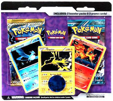 Pokemon 2 Booster Pack Blister with Legendary Birds (Articuno Zapdos Moltres)