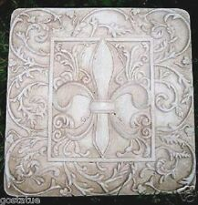 """abs plastic fleur de lis stepping stone  mold 10"""" x 10"""" x over 1"""" thick"""