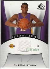 2006-07 SP GAME-USED JERSEY CARD: ANDREW BYNUM #143 LOS ANGELES LA LAKERS