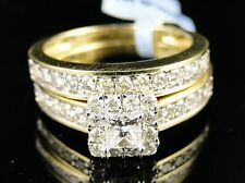 14K Ladies Princes Bridal Diamond Wedding Set Ring 1.0C
