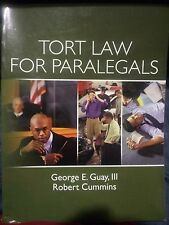 Tort Law for Paralegals by Robert Cummins and George E., III Guay (2009,...