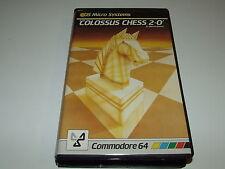 SCACCHI colossale 2-0 da CD (BIG BOX) PER C64 COMMODORE 64 COMPLETA da COLLEZIONE!