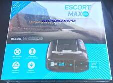 ESCORT MAX 360 BLACK RADAR/LASER/CAMERA DETECTOR W/BLUETOOTH/GPS Color Oled NEW