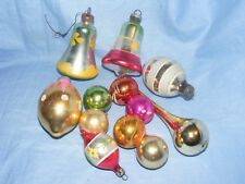 Vintage Glass Christmas Tree Decoration Bells Teardrop And Baubles Ornament