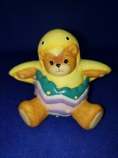 Lucy And Me Easter Chicken Egg Bear Figurine Lucy Rigg Enesco 1994