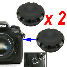 2 x PROTEZIONE TAPPO Flash Sync Terminal Cap 10-pin Remote Cover for Nikon Fuji