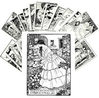 Postcards Pack [24 cards] Poems Vintage Engravings by Florence Harrison CC1145