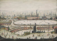 LS Lowry Framed Print – The Pond 1950 (Picture Painting English Artist Artwork)