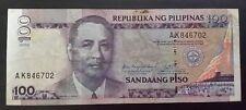"100 pesos banknote Philippines 2005 ""Arrovo"" serial#AK846702"