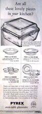 Vintage 1951 PYREX Oven-Table Glassware ADVERT - Original Kitchen Print AD #4
