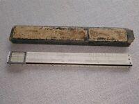 Antiker Rechenschieber A. W. Faber-Castell (1920er) , D. R. Patent Nr. 206428