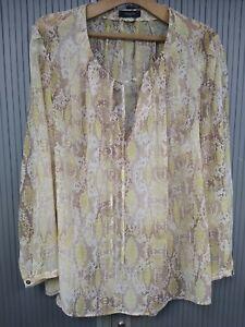 Chiffon Snake Skin Print - Blouse Top / Shirt - Good 4 Spring & Summer - Size 22
