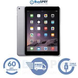 """Apple iPad Air 2 🍎 9.7"""" 64GB Space Gray Wi-Fi Only Tablet 🌐 MGKL2LL/A"""