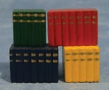 Four Block Books, Doll House Miniatures 1.12 Scale Study, Library Accessory