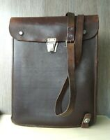 Military Officer Leather Map Bag Soviet Russian Army Case Tablet Planshet USSR