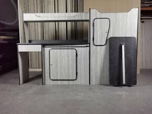 SWB Vauxhall Vivaro Renault Trafic Lightweight Kitchen Cabinets Camper Units Kit