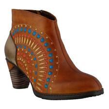 Shoes L'Artiste RHAPSODY Ankle Boots CAMEL BROWN Leather Hippie Burst  37 7