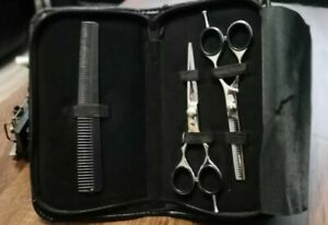 PROFFESIONAL BARBER HAIRDRESSING SCISSORS THINNING HAIR CUTTING SHEARS SET, CASE