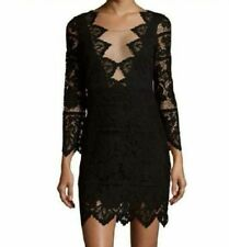 For Love and Lemons Noir Lace Mini Dress Womens Large L Black Sexy $250 A384
