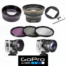 GOPRO HERO7 BLACK X30 FISHEYE LENS+TELEPHOTO ZOOM LENS +HD FILTER KIT UV-CP_ FL