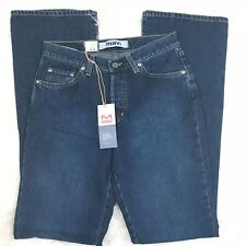 "MAVI WOMENS JEANS MOLLY SIZE 28 X 34 ""NWT"" PREMIUM BRUSHED FLARE LOW RISE"