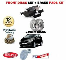 FOR HYUNDAI GETZ 1.1 1.3 1.4 2002-2011 FRONT BRAKE DISCS 240mm SET + PADS KIT