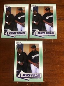 3 Prince Fielder 2002 Rookie Review #10 Rookie Cards NM To Mint