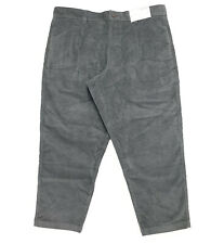 Arizona Men's Size 36 Baggy Skater Corduroy Pants Gray Relaxed Fit Wide Leg New
