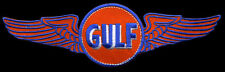 Gulf Patch with wings flying gasoline service station Motor oil Sales Service