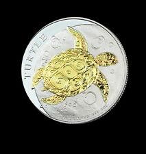 New listing 2015 Niue Hawksbill Turtle 1Oz .999 Silver Dollar $2 24K Gold Gilded