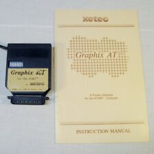 Vtg Graphix AT Xetec Printer Interface for Atari Computer 400 800 1200 w/ Manual