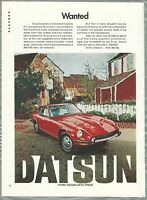 1972 DATSUN 240-Z advertisement, Nissan Datsun, cool red sports car
