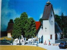 Faller H0 130236 Dorfkirche mit Storchennest Bausatz NEU