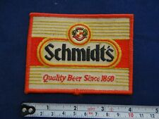 Schmidt's Quality Beer since 1860 Vintage embroidered Patch NOS *LOOK!!