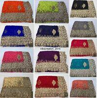 Indian Ethnic Wedding Wear saree Designer Bollywood Embroidery Sari Blouse  MA