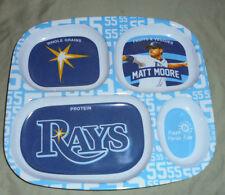 """Tampa Bay Rays Matt Moore Plate Baseball Child Dishware 10""""x9"""""""